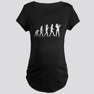 Violinist Evolution Maternity T-Shirt